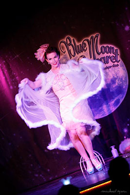 Boudoir Noir presents the sold out 12th edition of the Blue Moon Cabaret - the Decadent Burlesque Soirée - 22nd february 2019